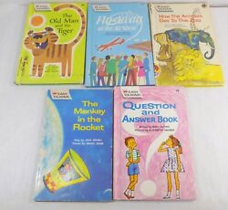 Vintage Easy Readers Lot Old Man And The Tiger Fly Away Animals Zoo Question