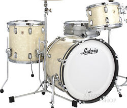 Ludwig Classic Mapie Vintage White Marine 3-pc. Downbeat Shell Pack 20/12/14