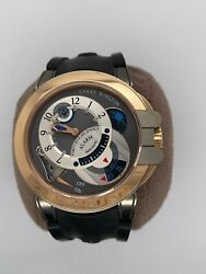 Harry Winston Watch Project Z6 Excenter Alarm Rose Gold And Zalium