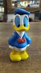 Antique Rubber Toy Donald Duck Pendant With Chifle Disney