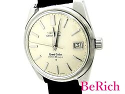 Grand Seiko 43999 Leather Silver Dial Antique Stainless Menand039s Watch [b0307]