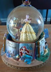 1991 Disney Beauty And The Beast Princess Belle Rotating Snowglobe Storybook