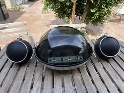 Vtg MCM Electrohome Apollo 860 Dome Turntable amp; Ball Speakers Space Age Working