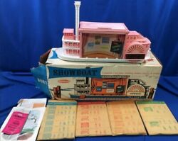 Vintage 1960and039s Remco Showboat Play Theatre Set W/box Complete Unused