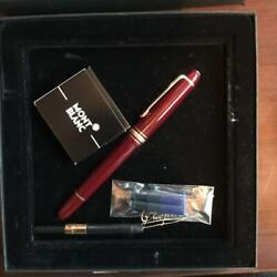 Mont Blanc-fountain-pens Meisterstck Hommage A Frederic Chopin Red Silver W/cd