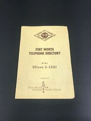 Texas And Pacific Railway 1960s Telephone Directory For Ft Worth, Texas. Free Ship