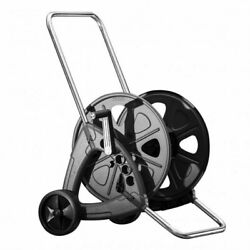 Steel Garden Hose Reel Cart Holds