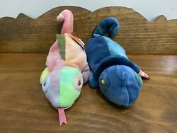 Ty Beanie Babies Extremely Rare With Errors - Rainbow And Iggy