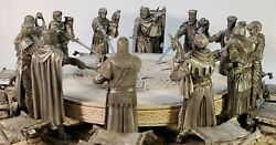 King Arthur And The Knights Of The Round Table Complete Set Les Etains Du Graal
