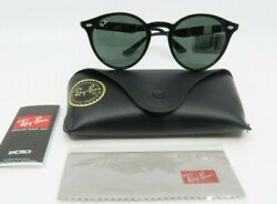 Ray-ban Rb 2180f 601/71 49mm Glossy Black Round Sunglasses New With Box