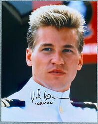Val Kilmer Signed In-person Top Gun 8x10 Color Photo - Iceman Authentic