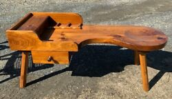 Antique Wood Cobbler Work Bench Coffee Table