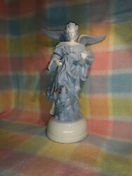 Milano Porcelain Angel Sculpture By Eda Mann With Music Box