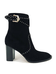 Givenchy Womens Elegant Black Suede Studded Ankle Boots 38 Us 8 Nib 1195 Abfb