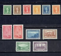 Canada - 1937 King George Vi Mufti And Pictorial Issue - Scott 231//245 - Mnh