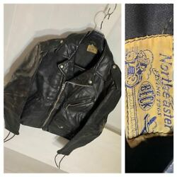 Vintage 1940 1950 Beck 999 One Star Leather Double Riders Jacket Mens L Size