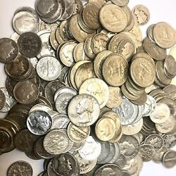 1 One Ounce Of 90 Silver Coins - Us Mixed Coin Lot - 10 And 25 Cent Pieces