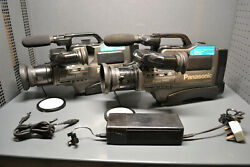 Vintage Panasonic Ms5 And M9500 Svhs Camcorder Video Cameras