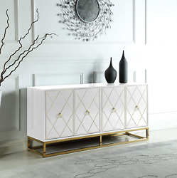 Best Master Furniture Tabitha High Gloss Lacquer Sideboard/buffet White