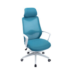 1-pc Executive Desk Chair Integrated Metal Frame Mesh Padding With Wheels Modern