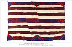 Jack Silverman / Classic Navajo Third Phase Chief Blanket Poster 1984