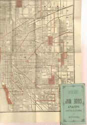 Frank Roehr / Travellers' And Shippers' Railway Guide Map Of Chicago