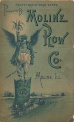 Pocket Map Of Your State Presented By Moline Plow Co Moline Ill