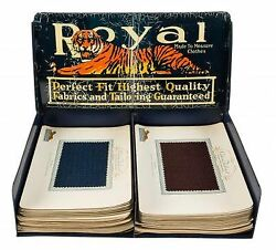 Royal Tailors Counter Display Advertising Case With 70 Sample Cards / 1930