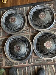 Po2 P02 68 69 70 71 72 73 Chevy Turbine Wheelcovers Hubcaps 15 Inch Lot 0f 4