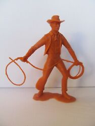 Marx Plastic Figure - 6-inches - Cowboy With Lasso - Broken Lasso