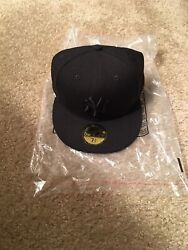 New Era Ny Yankees Size 7 1/2 5950 Fitted Hat 100 Anniversary Limited Error Ds