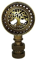 Royal Designs Decorative Tree Of Life Finial For Lamp Shade - 2.5 Inch Height