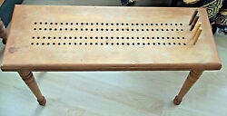 Vintage Solid Wood Handmade Cribbage Board Table Bench Adj-removeable Legs Pegs