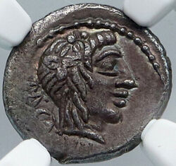 Roman Republic 89bc Ancient Rome Silver Coin Cato Moneyer Victory Ngc I88629