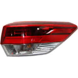 Tail Light For Toyota Highlander 17-19 Passenger Side Oe Replacement Led W/bulb
