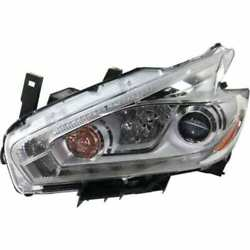 Headlight For Nissan Murano 2017 Driver Or Left Oe Replacement Halogen W/ Bulbs