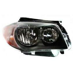 Headlight For Bmw 128i 08-11 Passenger Side Oe Replacement Halogen With Bulbs