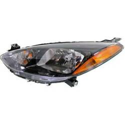 Headlight For Mazda 2 2011-2014 Driver Oe Replacement Halogen With Bulbs