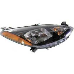 Headlight For Mazda 2 2011-2014 Passenger Oe Replacement Halogen With Bulbs