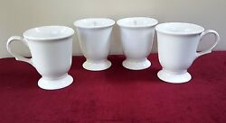 4 Pfaltzgraff Extra Large 16 Oz Pedestal Mugs 8 Availfooted No Decal Usa White