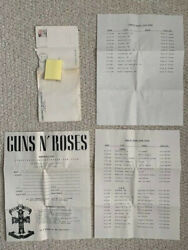 Guns+roses Vintage Fan Club Info+tour Dates From 1988+envelope  Awesome+rare