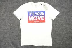 Jack And Jones Originals Off White Ivory Large Its Your Move Vintage Retro Tshirt