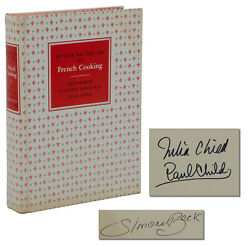Signed Mastering The Art Of French Cooking By Julia Child 1961 First Edition 2nd