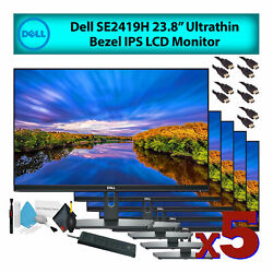 Dell 24 Se2419h Ultrathin Ips Lcd Computer Monitor 5-pack Deluxe Bundle
