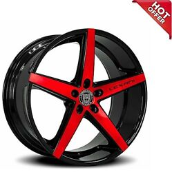 4ea 22 Lexani Wheels R-four Black With Brushed Red Face Rimss8