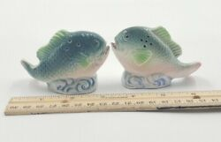 Vintage Salt And Pepper Shakers Fish Bass Tuna Water Bass Japan Wow