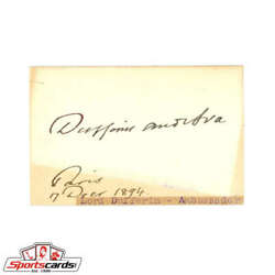 Lord Dufferin D.1902 Viceroy Of India And Governor General Of Canada Signed Card