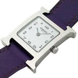 Hermes H Watch Hh1.210 O Engraved Quartz From Japan W0312