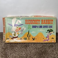 Rare 1964 Ricochet Rabbit And Droop A Long Coyote Board Game Complete