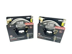 Lot 2 Eastman Universal Dishwasher Connector | Stainless Steel | 6 Ft X 3//8 In